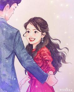 Anime Couples Drawings, Kpop Drawings, Cute Drawings, Cute Illustration, Character Illustration, Anime Korea, Korean Art, China Art, Kpop Fanart