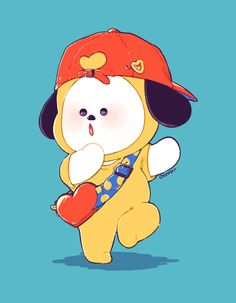 Chimmy and Tata Bts Chibi, Jimin Fanart, Kpop Fanart, Bts Jimin, Bts Bangtan Boy, V Wings, Dibujos Cute, Bts Backgrounds, Bts Drawings