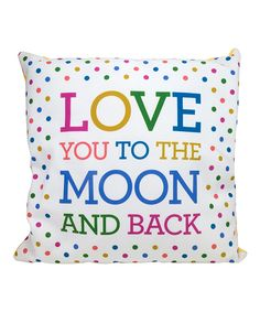 Look what I found on #zulily! 'Love You' Throw Pillow by About Face Designs #zulilyfinds