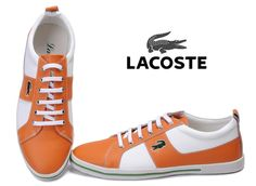 Lacoste Mens Sneaker Orange White