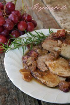 Arrosto di maiale con pancetta e uva rossa | IlGattoGhiotto.it