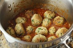 "spinach and ricotta vegetarian ""meatballs"""