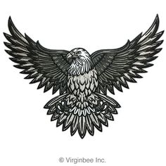 eagle tattoo, worked into a Victorian frame