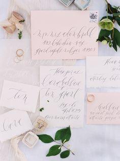 Delicate calligraphy wedding invitations: Photography: Sawyer Baird - http://www.sawyerbaird.com/