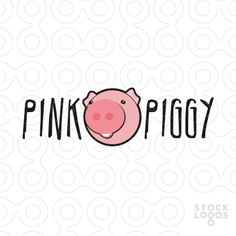Logo shows a funny looking pink pig with company's name in a crazy-looking font. Logo is suitable for any company with sense of humour looking for a happy pig.  This logo is ideal for example for kindergarten, preschool education centre, babysitter, kids amusement centre, toys store, kids fashion brand or even a vegetarian friendly restaurant.