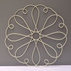 Vintage Round Cottage Wire Metal Wall Hanging by VintageUrbanBlue