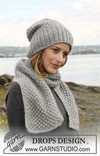 Free knitting patterns and crochet patterns by DROPS Design Knit Or Crochet, Crochet Scarves, Crochet Hats, Knitting Patterns Free, Free Knitting, Crochet Patterns, Free Pattern, Knitted Headband, Knitted Hats