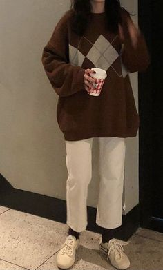 Korean Outfits, Mode Outfits, Retro Outfits, Cute Casual Outfits, Simple Outfits, Fall Outfits, Vintage Outfits, Fashion Outfits, Korean Girl Fashion