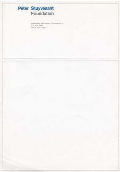 Peter Stuyvesant Foundation Letterhead, Peter Stuyvesant Stichting Turmac Tobacco Company, 1966
