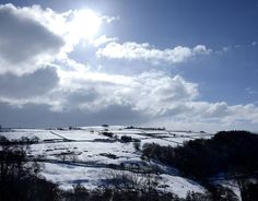 Allendale in Northumberland after heavy snow