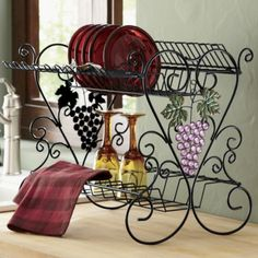 Grape Beaded Dish Drainer from Seventh Avenue ®