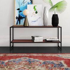Mercury Row Mcgovern Platform Bed & Reviews | Wayfair Vinyl Record Storage, Lp Storage, Living Room Entertainment Center, Tv Stand Console, New Living Room, Living Spaces, Bed Reviews, Low Shelves, Platform Bed