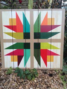 Barn Quilts by Chela - Tulips Barn Quilt Barn Quilt Designs, Barn Quilt Patterns, Quilting Designs, Quilting Patterns, Star Patterns, Painted Barn Quilts, Barn Signs, Best Barns, Wooden Barn