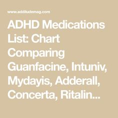 ADHD Medication List: Chart Comparing Guanfacine, Intuniv and Aspergers Autism, Adhd And Autism, Health Lesson Plans, Health Lessons, Dysgraphia, Dyslexia, Adhd Odd, Auditory Processing Disorder, Oppositional Defiant Disorder