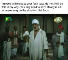 Sai Baba Pictures, God Pictures, Sai Baba Miracles, Quotes To Live By, Me Quotes, Sai Baba Quotes, Hinduism, Hindu Deities, Love You A Lot