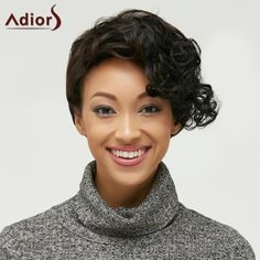 Side Bang Short Fluffy Curly Heat Resistant Fiber Wig #>=#>=#>=#>=#> Click on the pin to check out discount price, color, size, shipping, etc. Save and like it!