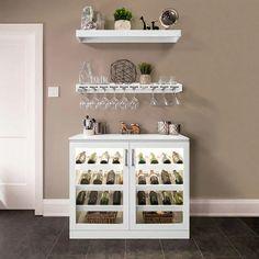 Home Wine Bar, Diy Home Bar, Coffee Bar Home, Home Bar Decor, In Home Bar Ideas, Wine And Coffee Bar, Wine Bar Cabinet, Wine Cabinets, Mini Bars