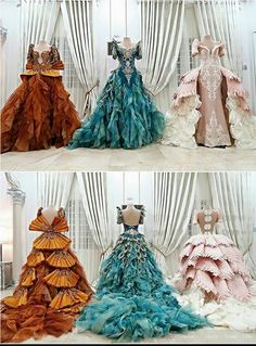 "throwaninkpot: "" queensandkingsofattolia: "" miss-mandy-m: ""Couture gowns by Mak Tumang "" I could slay in each one of these… "" I was going to ask if you meant your beauty in. Modern Filipiniana Gown, Masquerade Ball Gowns, Fantasy Gowns, Prom Dresses, Wedding Dresses, Quince Dresses, Quinceanera Dresses, Beautiful Gowns, Dream Dress"