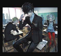 Artist: Shigenori Soejima | Shin Megami Tensei: Persona 5 | Kurusu Akira | Sakamoto Ryuuji | Takamaki Anne