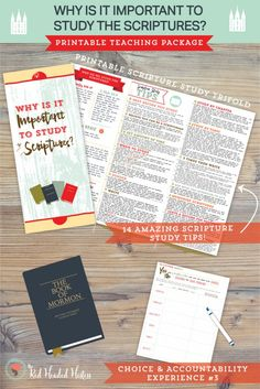 Scripture Study Tips: This lesson teaches why it is important to study our scriptures and gives 14 AMAZING scripture study tips you can print onto a pamphlet. These tips are really good and effective!