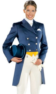 Dressage lady with shadbelly and top hat