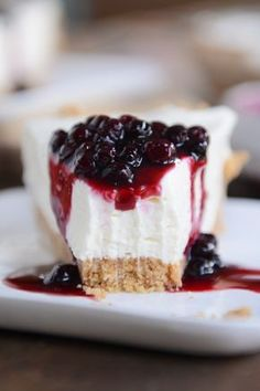 The Best No-Bake Cheesecake - Here is an amazing no-bake cheesecake that is extremely simple and is smooth and velvety, luxuriously creamy, sweet and just a bit tangy, and a perfect crust... the perfect proportions of all the necessary components. via Mel's Kitchen Cafe