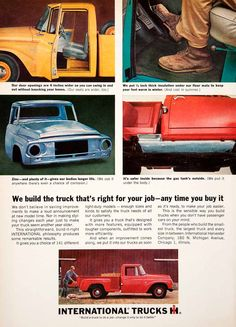 1964 Ad International Harvester Pickup Truck Chicago Hauling Loading Travel SF3