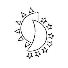 Mjesec Tattoo - Semi-Permanent Tattoos by inkbox™ Boho Tattoos, Star Tattoos, Cute Tattoos, Moon Star Tattoo, Tatoos, Basic Tattoos, Tattoo Signs, Inkbox Tattoo, Create Your Own Tattoo