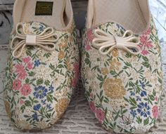 VTG In Box DANIEL GREEN Brocade Tapestry Comfy Slippers House Shoes Size 12 EE    eBay