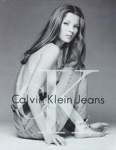KATE MOSS 90'S CALVIN KLEIN ADS