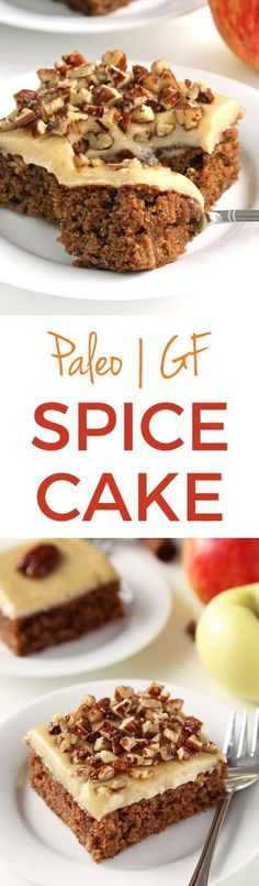 This delicious and easy paleo spice cake with maple cream cheese frosting is an easy to make treat perfect for fall and Thanksgiving! Grain-free, gluten-free and dairy-free. Made in partnership with @bobsredmill.