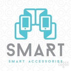 logo for sale: Modern abstract interpretation of a smart phone device accessories