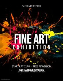 Copy of Fine Art Exhibition Flyer Art Exhibition Posters, Social Media Graphics, Photo Quality, Flyer Design, Poster Designs, Design Posters, Photoshop, Fine Art, Promotional Flyers