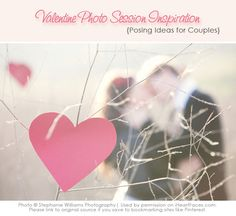 Beautiful Valentine-themed engagement session photo ideas!  Compiled by iHeartFaces.com. http://www.iheartfaces.com/2013/02/valentine-engagement-photo-session-ideas/
