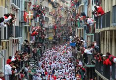 Revellers run with Puerto de San Lorenzo's fighting bulls during the second day of the San Fermin Running of the Bulls festival on July 2018 in Pamplona, Spain. The annual Fiesta de San Fermin,. Get premium, high resolution news photos at Getty Images San Fermin Pamplona, Monuments, Running Of The Bulls, The Sun Also Rises, Spanish Culture, Festivals Around The World, Pictures Of The Week, Bora Bora, Trip Planning