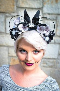 Caleigh's Crowns Halloween Collection Jack by CaleighsCrowns Diy Disney Ears, Disney Mickey Ears, Disney Diy, Disney Crafts, Mickey Mouse, Disney Headbands, Ear Headbands, Disney Ornaments, Carnival