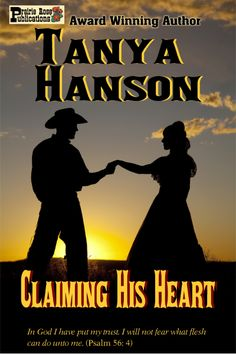 Tulsa Sanderson must do anything within his power to prove his outlaw brother's innocence. Charmlee has no desire and no choice but to wed the handsome stranger who arrives, bearing a mysterious letter. Trusting comes hard for them both, but Charmlee realizes it's the only way to what's really important... CLAIMING HIS HEART. http://www.amazon.com/Claiming-His-Heart-Tanya-Hanson-ebook/dp/B00GMQYB3S/ref=sr_1_1?s=digital-text&ie=UTF8&qid=1394499464&sr=1-1&keywords=Claiming+His+Heart