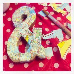 DIY lettertekens beplakken- http://www.galerie-lucie.nl