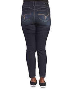 Wanna Betta Butt™ Skinny Jean | Wet Seal+ #jeans #denim #plussize #curvy