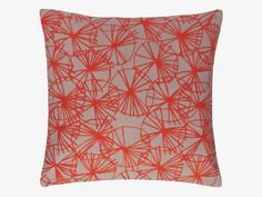 STAR FLORAL REDS Fabric 40 x 40cm red patterned cushion - Cushions- HabitatUK £20