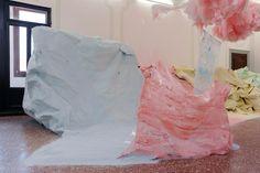 Karla Black, Scotland + Venice 2011( installation view), 54th Venice Biennale