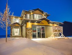 The exceptional Two Storey custom built home 2147 sq feet of luxury! Picture is of our Denali showhome and may not be exactly as shown. Custom Built Homes, Exterior Design, Building A House, Mansions, Luxury, House Styles, House Ideas, Home Decor, Home Exterior Design
