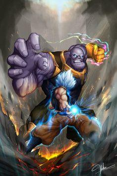 goku vs thanos by on DeviantArt Dragon Ball Z, Dragon Ball Image, Goku Vs Superman, Majin, Goku Vs Frieza, Kid Buu, Anime Crossover, Marvel Wallpaper, Animes Wallpapers