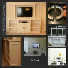 Custom built in cabinet for TV. Interior Design Photos, Built In Cabinets, Flat Screen, Tv, Building, Blood Plasma, Built In Robes, Build In Cupboards, Television Set