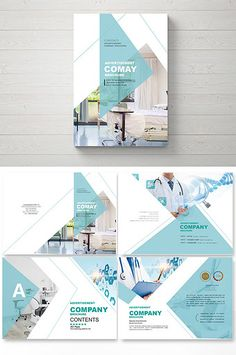Set of green fashion general medical plastic surgery Brochure design typesetting Medical Brochure, Corporate Brochure, Corporate Design, Graphic Design Brochure, Brochure Design Inspiration, Brochure Cover, Brochure Layout, Powerpoint Design Templates, Brochure Template