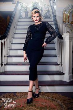 Laura Byrnes California Lisa Top in Black | Pinup Girl Clothing