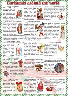 Christmas around the world worksheet - Free ESL printable worksheets made by teachers