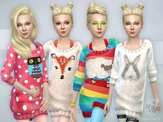 Knit Dress for Girls - The Sims 4 Catalog The Sims 4 Pc, Sims 4 Teen, Sims 4 Toddler, My Sims, Sims Cc, Sims Mods, Sims 4 Black Hair, The Sims 4 Cabelos, Sims 4 Cc Kids Clothing
