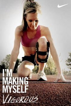 this. Need this motivation... note to self my weak knee is no excuse to not run.