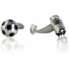 Soccer Football and Cleats Sports Athlete Cufflinks